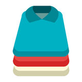 Colorful shirt set, vector graphic Stock Photo