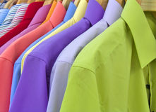 Colorful shirts Stock Image