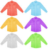 Colorful shirts with long sleeves Royalty Free Stock Photos