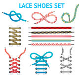 Colorful Shoelace Icon Set Royalty Free Stock Photo