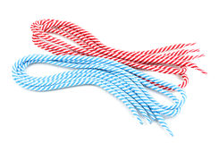 Colorful shoelaces Stock Images