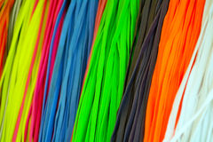 Colorful Shoelaces Royalty Free Stock Photography