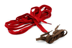 Colorful shoelaces isolated on white. Royalty Free Stock Photo