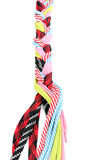 Colorful shoelaces in pigtail. Over the white Royalty Free Stock Photography