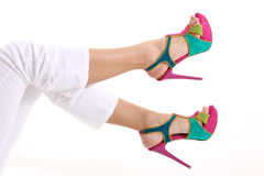 Colorful shoes Stock Images