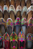 Colorful shoes. On bazar in Mumbai, India Stock Images