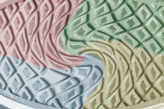 Colorful shoes floor design texture. Beautiful Colorful shoes floor design background texture Stock Images