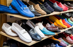 Colorful Shoes at a Market. In Sorrento on the Amalfi Coast Royalty Free Stock Image