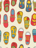 Colorful shoes pattern Stock Photography