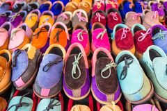 Colorful shoes for sale Royalty Free Stock Photo