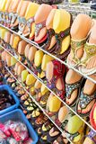 Colorful shoes for sale Stock Image