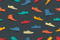 Shoes seamless pattern Stock Images