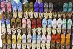 Colorful shoes in souk ,Dubai,United Arab Emirates Stock Photo