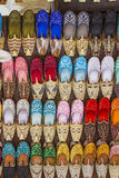 Colorful shoes in souk ,Dubai,United Arab Emirates Royalty Free Stock Photography