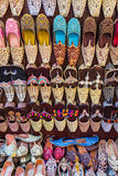 Colorful shoes in souk Dubai Royalty Free Stock Photography