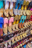 Colorful shoes in souk Dubai Stock Photos