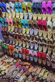 Colorful shoes in souk Dubai Royalty Free Stock Photos