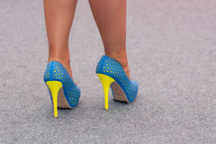Colorful shoes of woman Stock Photo
