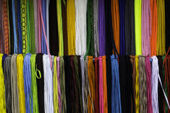 Colorful shoestring Stock Photography