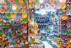 Colorful shop in Morocco Stock Photo