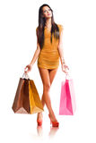 Colorful shopper. Stock Photos