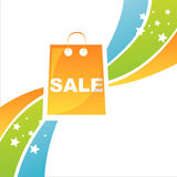 Colorful shopping bag background Stock Images