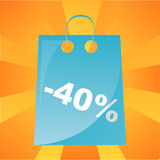 Colorful shopping bag background Stock Photos