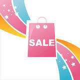Colorful shopping bag background Stock Image