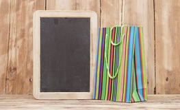 Colorful shopping bag Stock Photo