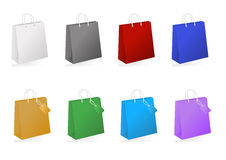 Colorful shopping bag collection Stock Photography