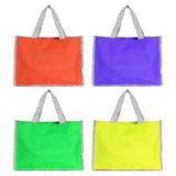 Colorful shopping bag isolated on white Stock Photo