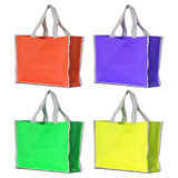 Colorful shopping bag isolated on white Royalty Free Stock Photography