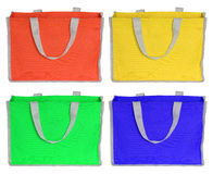 Colorful shopping bag isolated on white Stock Photos