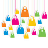 Colorful shopping bag pattern background Stock Photos