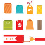 Colorful shopping bag set. Perfect for web page or your holiday design. Colorful shopping bag set. Perfect for your web page or for your holiday design. eps10 Royalty Free Stock Images