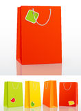 Colorful shopping bag on white background Royalty Free Stock Images