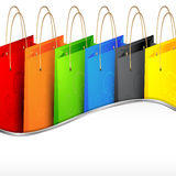 Colorful shopping bags. Stock Photography