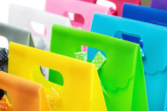 Colorful shopping bags background Stock Photography
