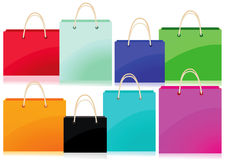 Colorful Shopping Bags Design Stock Photography
