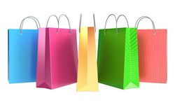 Colorful shopping bags. With different texture Stock Photography