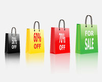 Colorful Shopping Bags Discount for Shopping Concept Royalty Free Stock Images