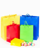 Colorful shopping bags. Easter concept Royalty Free Stock Images
