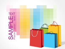 Colorful shopping bags,  illustration Stock Photos