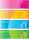 Colorful shopping bags,  illustration Stock Photography