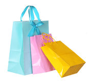 Colorful Shopping Bags isolated Stock Photos