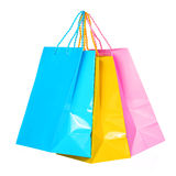 Colorful Shopping Bags isolated Royalty Free Stock Image