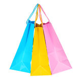 Colorful Shopping Bags isolated Royalty Free Stock Photos