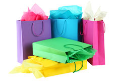 Colorful shopping bags Stock Photography