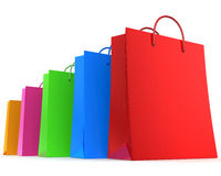 Colorful shopping bags Royalty Free Stock Photo