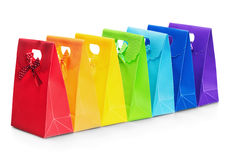 Colorful shopping bags isolated Stock Photography